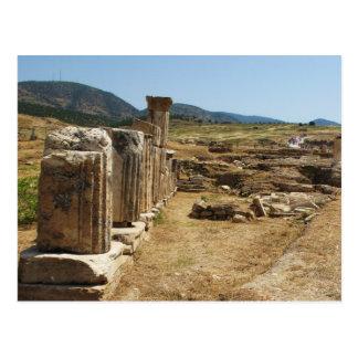 Römische Ruinen bei Hierapolis Pamukkale die Postkarte