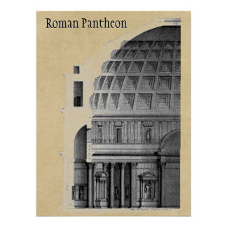 Römischer Pantheon-klassische Architektur Poster
