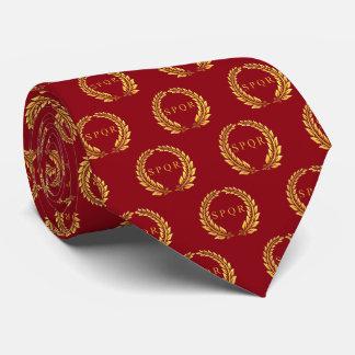 Römischer SPQR Lorbeer gemustert Krawatten