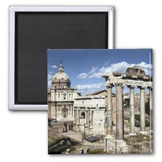 Römisches Forum, Rom, Italien Quadratischer Magnet
