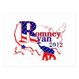 Romney Ryan 2012 - eine Siegermannschaft für die Postkarte