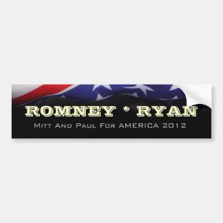 ROMNEY RYAN 2012 Kampagnen-Autoaufkleber Autoaufkleber