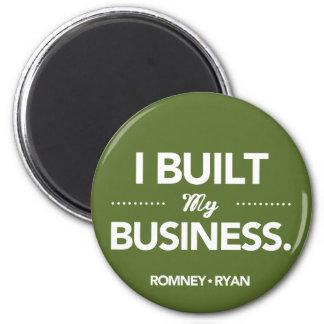 Romney Ryan baute ich mein rundes Geschäft auf Runder Magnet 5,1 Cm
