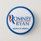 Romney Ryan glauben an runde blaue Grenze Amerikas Runder Button 5,7 Cm