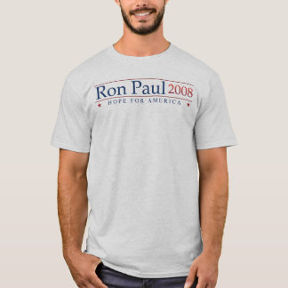 Ron Paul 2008 (Grau-) Umdrehung T-Shirt