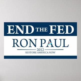 Ron Paul für Plakat Präsidenten-2012 Kampagne