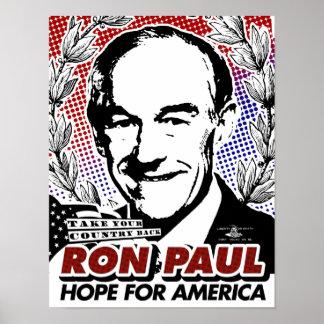 Ron Paul-Hoffnung für Amerika-Plakat Poster