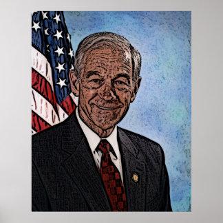 Ron Paul Porträt basierte weg von seinem 07' Poster