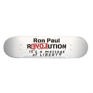 Ron Paul-Revolution ist es eine Mitteilung der Fre Individuelle Skatedecks