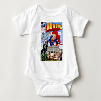 Ron Paul Superheld-Comic-Buch Baby Strampler