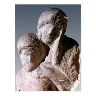 Rondanini Pieta, Sonderkommando der Köpfe von Postkarte