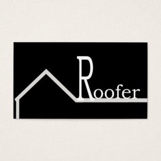 Roofer-Visitenkarte-Schwarzes Visitenkarten