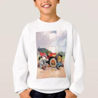 Roosevelt trägt Auto-Mechaniker Sweatshirt