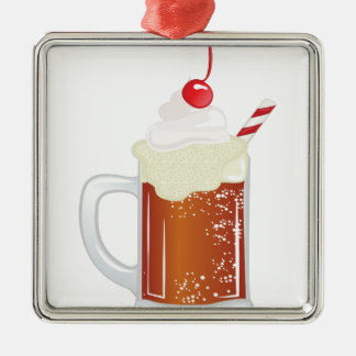 Root Beer-Floss Silbernes Ornament