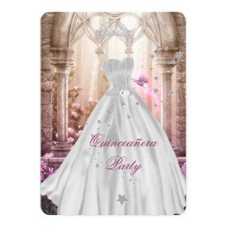 Rosa 15. Geburtstag Prinzessin-Magical Quinceanera 12,7 X 17,8 Cm Einladungskarte