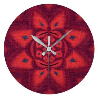 Rosa abstrakte Blume Große Wanduhr