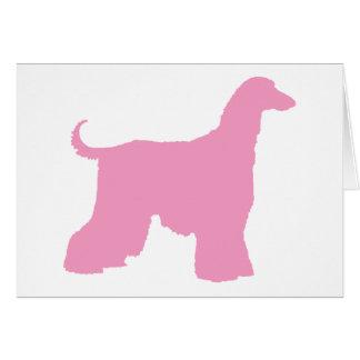 Rosa afghanischer Jagdhund Grußkarte