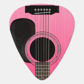 Rosa Akustikgitarre Plektrum