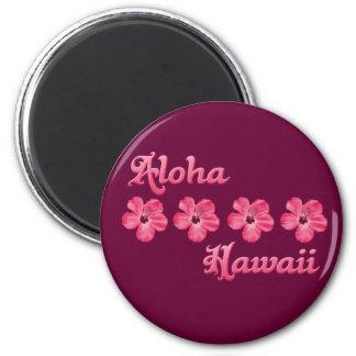 Rosa Aloha Hawaii Runder Magnet 5,7 Cm