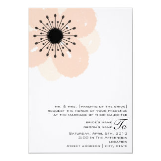 Rosa Anemonen-Hochzeit laden ein: Von den Eltern 12,7 X 17,8 Cm Einladungskarte
