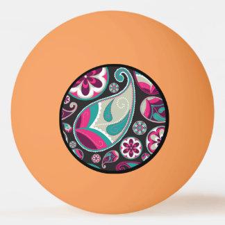 Rosa aquamarines Paisley-Muster Tischtennis Ball