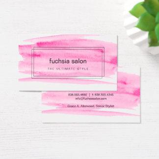 Rosa Aquarell eingepackt Visitenkarte
