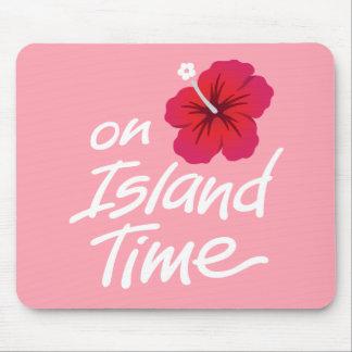 Rosa auf Insel-Zeit-Mausunterlage mit Hibiskus Mousepad
