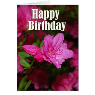 Rosa Azaleen-alles Gute zum Geburtstag Grußkarte