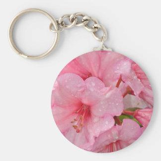 Rosa Azaleen-Blumen Schlüsselanhänger