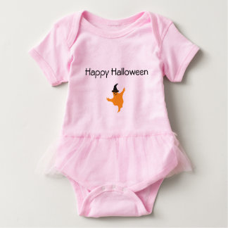 Rosa Baby-Ballettröckchen-Bodysuit-Halloween-Geist Baby Strampler