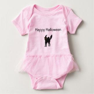 Rosa Baby-Ballettröckchen-Bodysuit-Halloween-Katze Baby Strampler