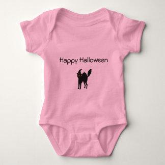 Rosa Baby-Bodysuit-Halloween-Katze Baby Strampler