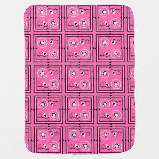 Rosa Baby-Decke Paisleys mit individuellem Namen Babydecke