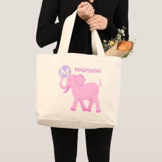 Rosa Baby-Mädchen-niedliche Elefant-Windel-Tasche Jumbo Stoffbeutel