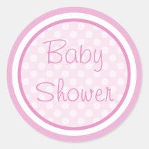Rosa Babyparty-Aufkleber