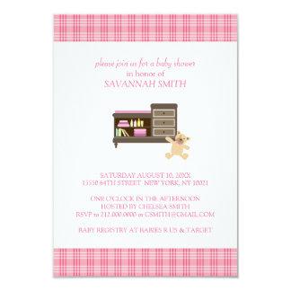 Rosa Babyparty-Einladungen 8,9 X 12,7 Cm Einladungskarte
