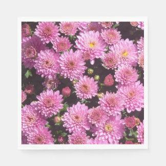 Rosa Ball-Chrysantheme-Papierservietten Serviette