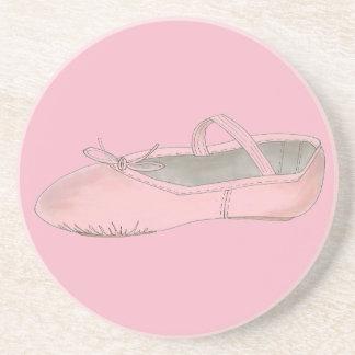 Rosa Ballett-Schuh-Pantoffel-Ballerina-Tanz-Lehrer Untersetzer