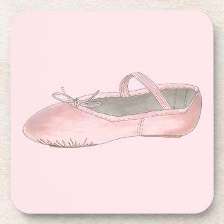 Rosa Ballett-Schuh-Pantoffel-Tanz-Lehrer-Ballerina Untersetzer