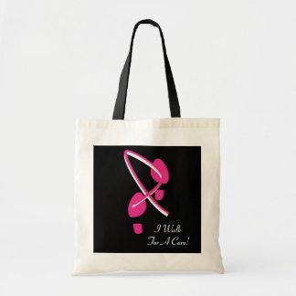 Rosa Band-Abdrücke gehe ich für eine Heilung Budget Stoffbeutel