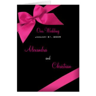 Rosa Band-Hochzeits-Einladungs-Mitteilungs-Karte Grußkarte