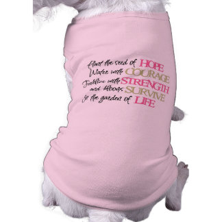 Rosa Band-Hundeshirt Top