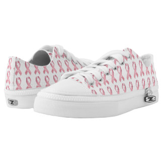 Rosa Band-Kampf-Krebs Zipz niedrige Spitzenschuhe Niedrig-geschnittene Sneaker