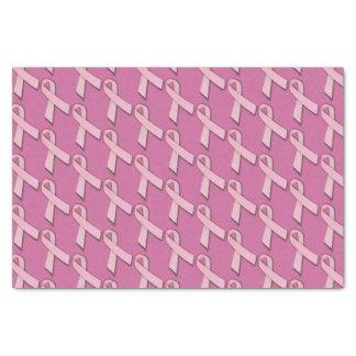 Rosa Bänder deckten Muster mit Ziegeln Seidenpapier