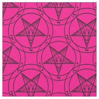 rosa baphomet Gewebe Stoff