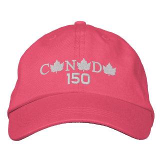 Rosa Baseballmütze Kanadas 150 Bestickte Kappe