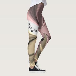 Rosa Beere Latte Creme-Strudel-Yoga-Übungs-Entwurf Leggings