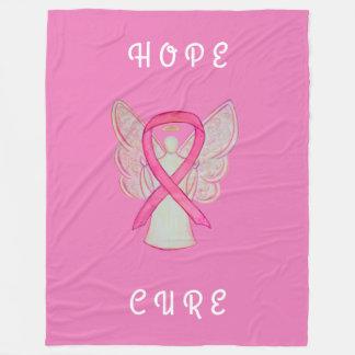 Rosa Bewusstseins-Band-Engels-Krebs Chemo Decke