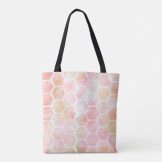 Rosa Bienenwaben-Tasche Tasche