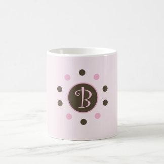 "Rosa Blasen-Tassen-Initiale ""B "" Tasse"